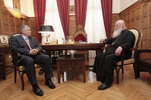 Συναντήσεις Αρχιεπισκόπου με βουλευτές
