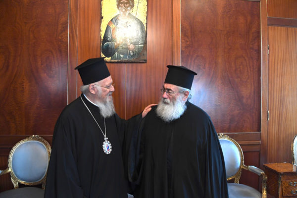 O Αρχιεπίσκοπος Σινά Δαμιανός στο Οικουμενικό Πατριαρχείο
