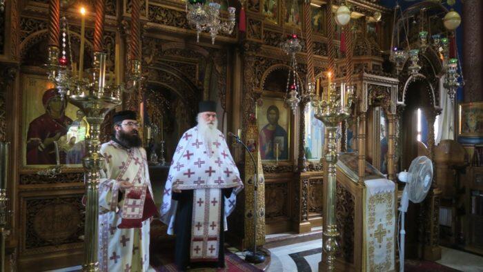 Αρχιεπίσκοπος και Ιεράρχες στην Σταυροπηγιακή Μονή του Οσίου Συμεών Μάκρης