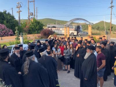 Επίσκεψη στην Μητρόπολη Θηβών των Συνέδρων του Β΄ Πανελλήνιου Συνεδρίου Στελεχών Κατασκηνώσεων των Μητροπόλεων της Εκκλησίας της Ελλάδος