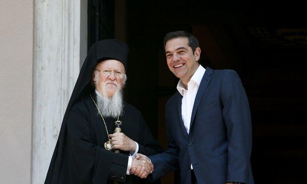 Ο Οικουμενικός Πατριάρχης Βαρθολομαίος στο Μέγαρο Μαξίμου