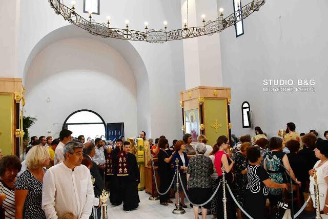 Άγιος Λουκάς ο Ιατρός: Αρχιερατική θεία λειτουργία στα Λευκάκια Ναυπλίου