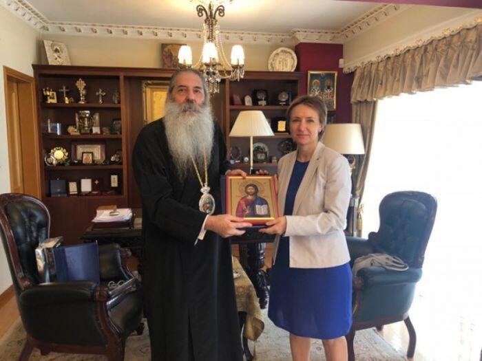 Ο Πειραιώς Σεραφείμ συναντήθηκε με την Πρέσβειρα της Ουκρανίας