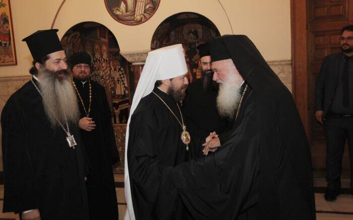 Συνάντηση Αρχιεπισκόπου με τον Μητροπολίτη Ιλαρίωνα