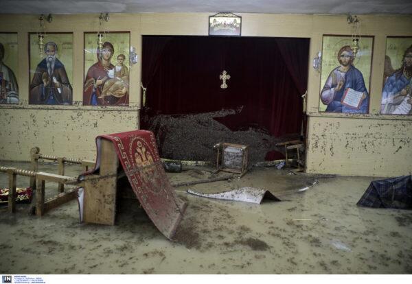 Θεσσαλονίκη: Ολοσχερής καταστροφή ναού από τις πλημμύρες