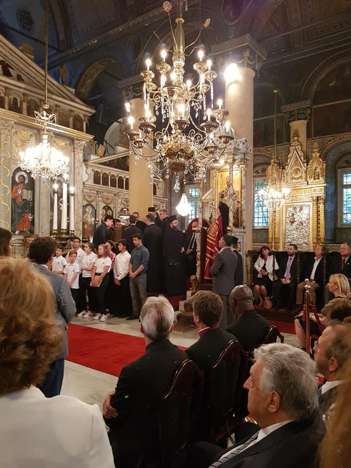 Ο Εσπερινός των Ονομαστηρίων του Πατριάρχου στη Μονή Βαλουκλή