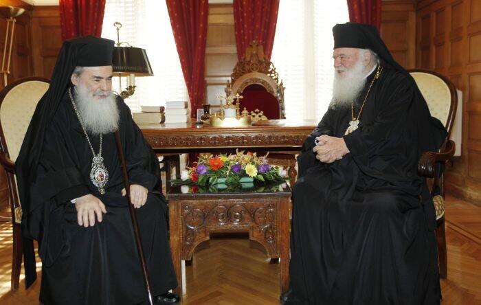 Με τον Πατριάρχη Ιεροσολύμων συναντήθηκε ο Αρχιεπίσκοπος