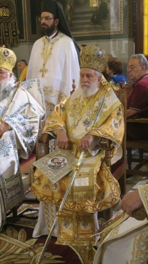 Ο Αρχιεπίσκοπος στον Ναό του Αποστόλου Παύλου, επί της οδού Ψαρών Αθηνών