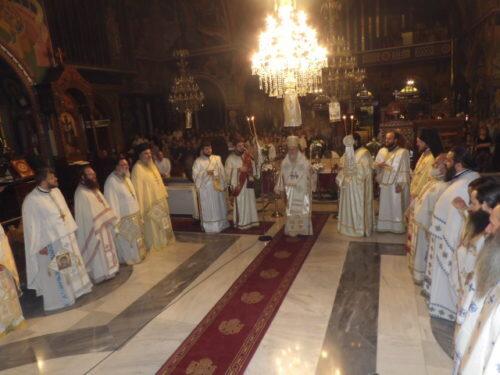Αγρυπνία Αγίων Αποστόλων συνεργών Αποστόλου Παύλου στην Κόρινθο
