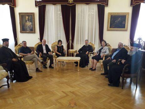Επίσκεψη ακαδημαϊκών στον Αρχιεπίσκοπο Κύπρου