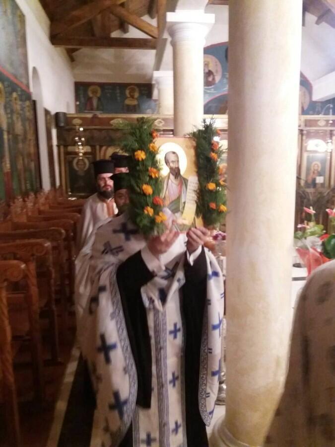 Ιερά Αγρυπνία στον Ιερό Ναό Προφήτου Ηλιού Τ.Κ. Ριζοβουνίου