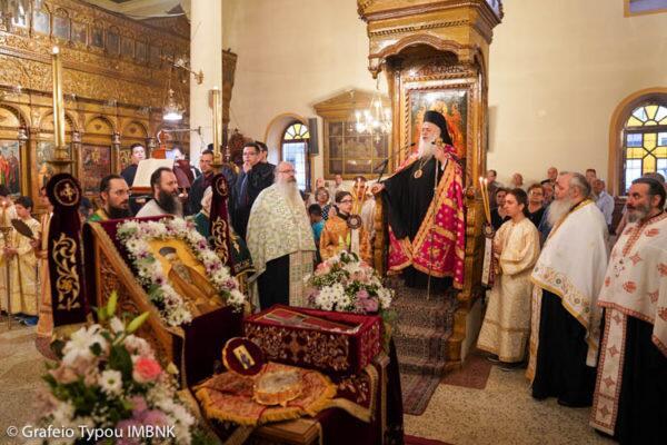 Νάουσα: Υποδοχή του Ιερού Λειψάνου του Αγίου Κοσμά