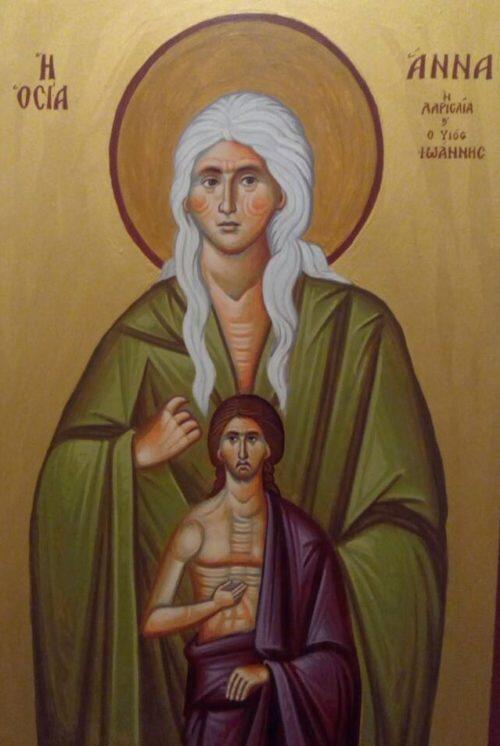 Λάρισα: Εορτάσθηκε η μνήμη της Οσίας Άννης, της ερημίτιδος, και Λαρισαίας ασκητρίας