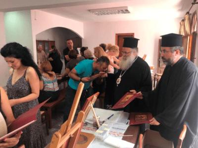 Ο Ιεραπύτνης Κύριλλος στη Σχολή Αγιογραφίας της Ιεράς Μητροπόλεως στη Σητεία