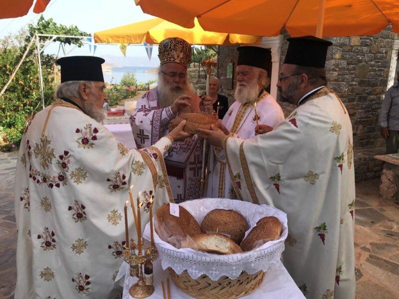 Σητεία: Αρχιερατική Θεία Λειτουργία στον πανηγυρίζοντα Ναό Αγίας Καλλιόπης στο Μόχλος