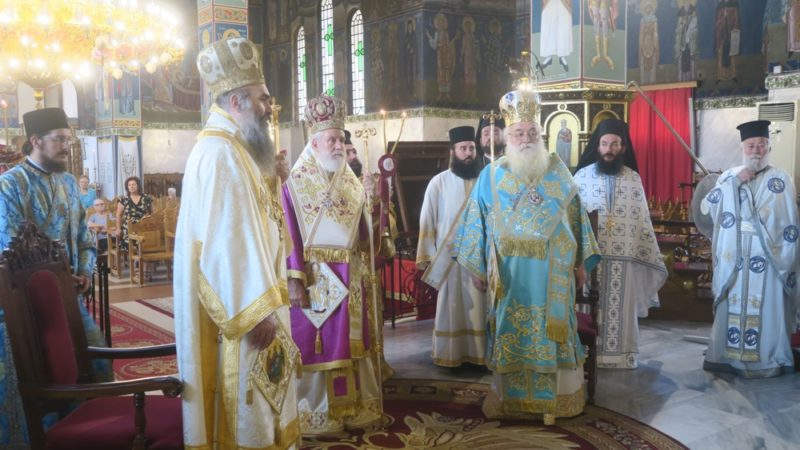 Κιλκίς: Τρισαρχιερατική Θεία Λειτουργία στον Ναό της Μεταμορφώσεως του Κυρίου