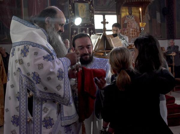 Ο Μετεώρων Θεόκλητος στον ενοριακό ναό Κοιμήσεως Θεοτόκου Μαυρελίου