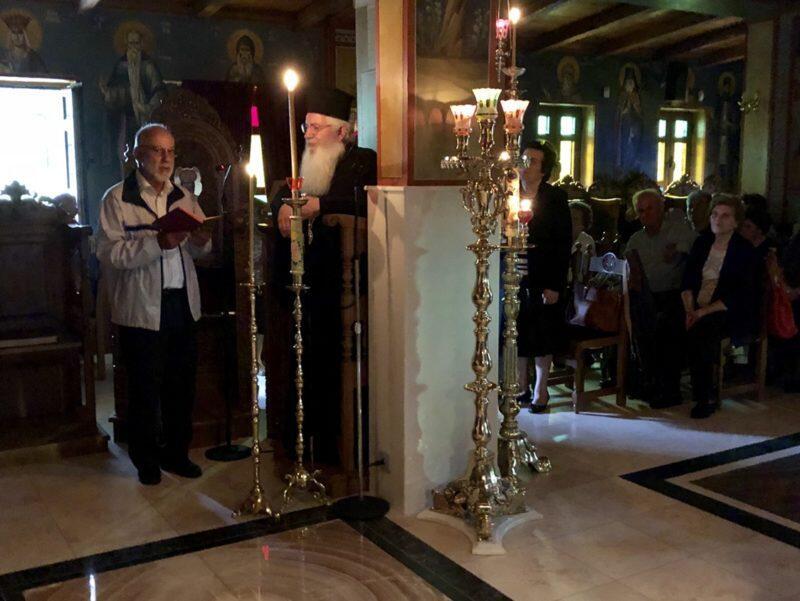 """Επίσκεψη του Συλλόγου """"Άγιοι Ανάργυροι"""" Αταλάντης στην Μονή Αγίου Γεωργίου Μαυρομματίου"""