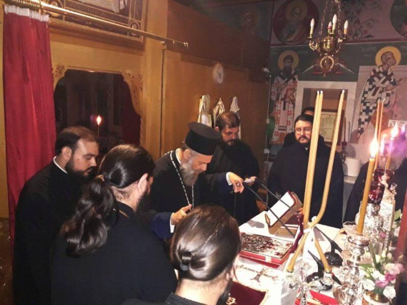 Ιερά Αγρυπνία στο Ιερό Προσκύνημα Αγίου Νικολάου του εν Βουναίνη