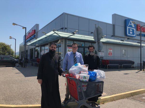 Εθελοντική προσφορά του υποκαταστήματος ΑΒ Βασιλόπουλος στο Γενικό Φιλόπτωχο Ταμείο της Μητρόπολης Λευκάδος