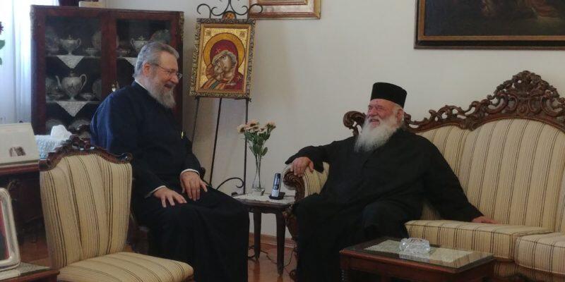 Συνάντηση του Αρχιεπισκόπου Κύπρου με τον Αρχιεπίσκοπο Αθηνών κ.κ Ιερώνυμο