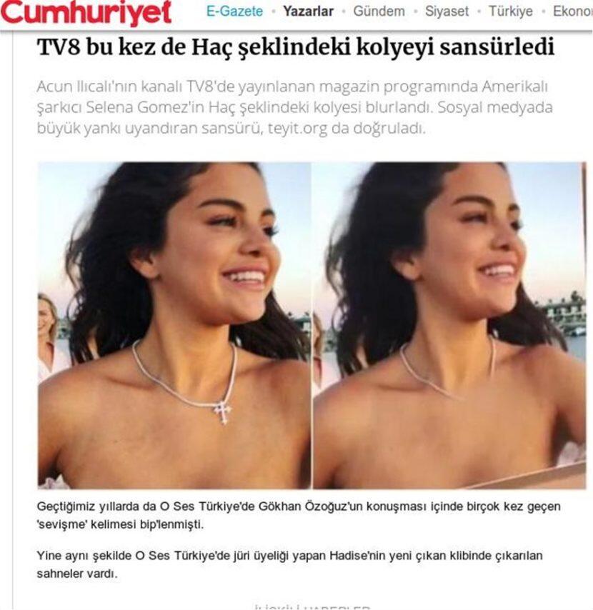 Τουρκία: Λογόκριναν γνωστή ηθοποιό επειδή φορούσε τον Τίμιο Σταυρό