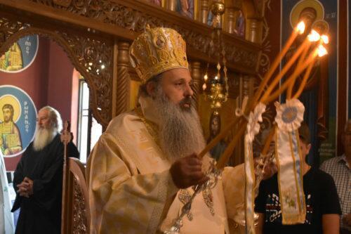 Στον πανηγυρίζοντα Ιερό Ναό της Αγίας Μαρίνης ο Μετεώρων Θεόκλητος
