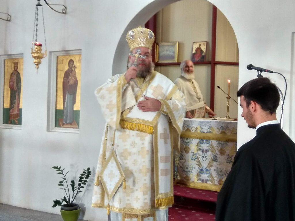 Ο Μητροπολίτης Καρθαγένης στον Ι. Ναό Αγίας Αικατερίνης Καλαμάτας