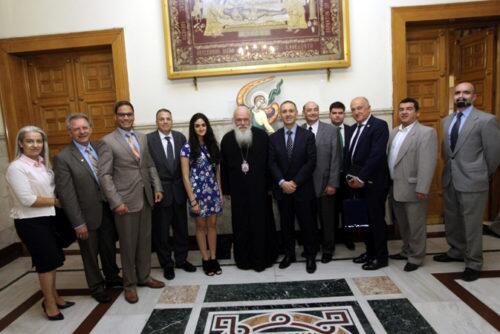 Στον Αρχιεπίσκοπο το Προεδρείο της Παγκόσμιας Διακοινοβουλευτικής Ένωσης Ελληνισμού