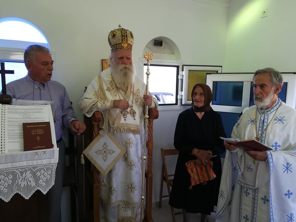 Στα Αντικύθηρα για την εορτή του Οσίου Αθανασίου του Αγιορείτου ο Μητροπολίτης Σεραφείμ
