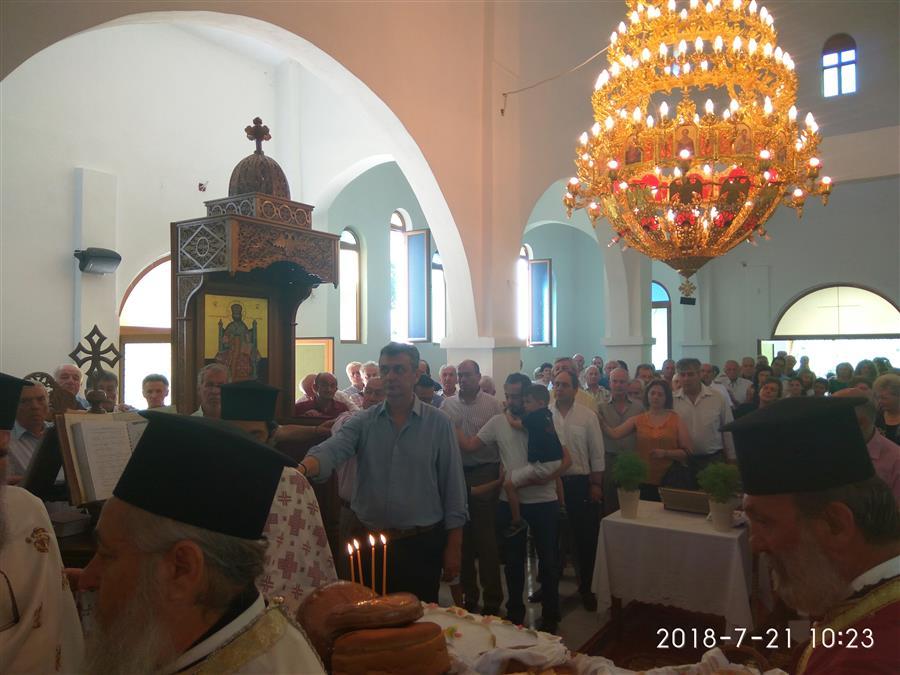 Θεία Λειτουργία στη γενέτειρα του Αγίου Παρθενίου, Επισκόπου Ραδοβισδίου