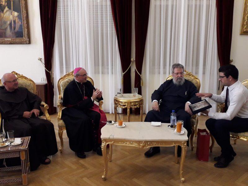 Συνάντηση Αρχιεπισκόπου Κύπρου με τον νέο αποστολικό νούντσιο Leopoldo Girelli