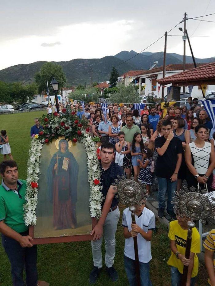 Η εορτή της Αγίας Παρασκευής στους Γόννους Λάρισας