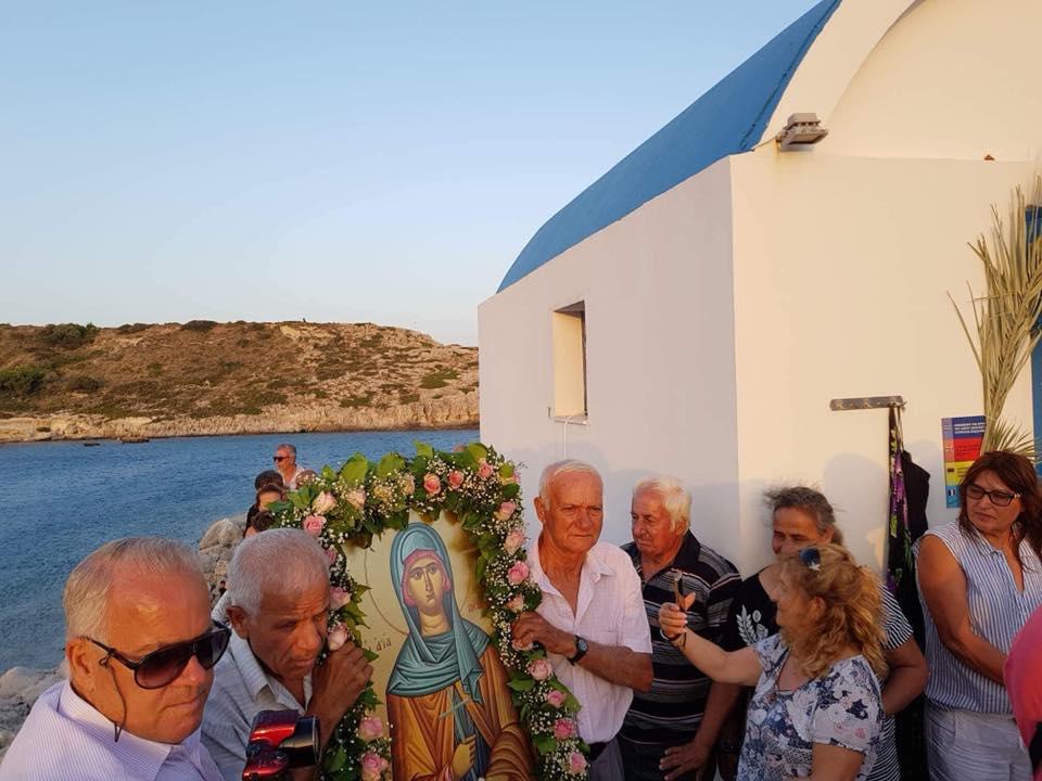 Ρόδος: Κοσμοσυρροή στη λιτάνευση της Αγίας Πελαγίας - Πλήθος σκαφών - Μοναδικές εικόνες