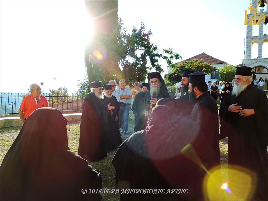 Πανηγυρικός Εσπερινός Οσίου Νικοδήμου του Αγιορείτου στην Μονή Ροβελίστης Άρτης
