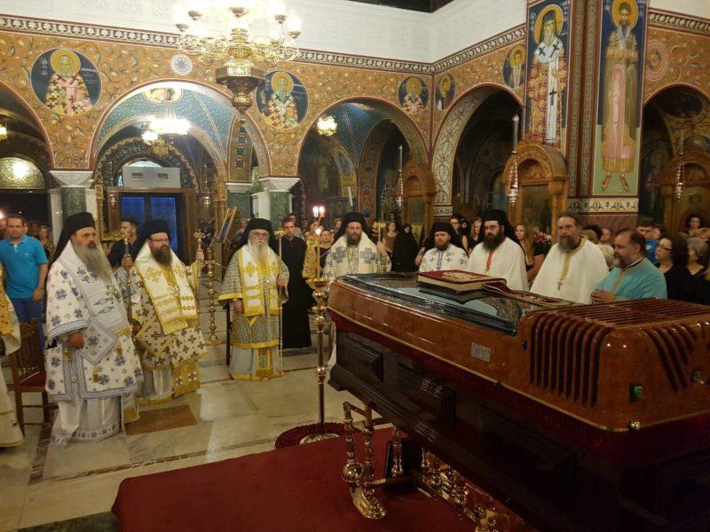 Ιερά Αγρυπνία με τον Όρθρο, την νεκρώσιμο ιερά ακολουθία και την Θεία Λειτουργία τελέσθηκε το βράδυ της 13ης Ιουλίου 2018 στον Μητροπολιτικό Ιερό Ναό του Αγίου Αχιλλίου, στη Λάρισα, ενώπιον του σκηνώματος του μακαριστού Μητροπολίτου Λαρίσης και Τυρνάβου κυρού Ιγνατίου. Αναλυτικά, επισημαίνεται ότι «στη Θεία Λειτουργία προεξήρχε ο Σεβασμιώτατος Μητροπολίτης Καστορίας κ. Σεραφείμ και μαζί του συνιερούργησαν οι Σεβασμιώτατοι Μητροπολίτες Μεγάρων και Σαλαμίνος κ. Κωνσταντίνος, Τρίκκης και Σταγών κ. Χρυσόστομος, Σταγών και Μετεώρων κ. Θεόκλητος, ενώ συμπροσευχήθηκαν οι Σεβασμιώτατοι Μητροπολίτες Δημητριάδος και Αλμυρού κ. Ιγνάτιος, ο και τοποτηρητής της χηρευσάσης Ιεράς Μητροπόλεως, Ζιχνών και Νευροκοπίου κ. Ιερόθεος, Κορίνθου κ. Διονύσιος, Σύρου κ. Δωρόθεος, Γλυφάδας κ. Παύλος, Νεαπόλεως κ. Βαρνάβας, πολλοί πατέρες και πλήθος του χριστεπωνύμου πληρώματος της τοπικής εκκλησίας. Ιδιαίτερα συγκινημένος ο Σεβασμιώτατος Μητροπολίτης Καστορίας κ.Σεραφείμ έκανε λόγο για το πρόσωπο και το έργο του μακαριστού συνιεράρχου του, τον οποίο αγαπούσε και τιμούσε ιδιαιτέρως».