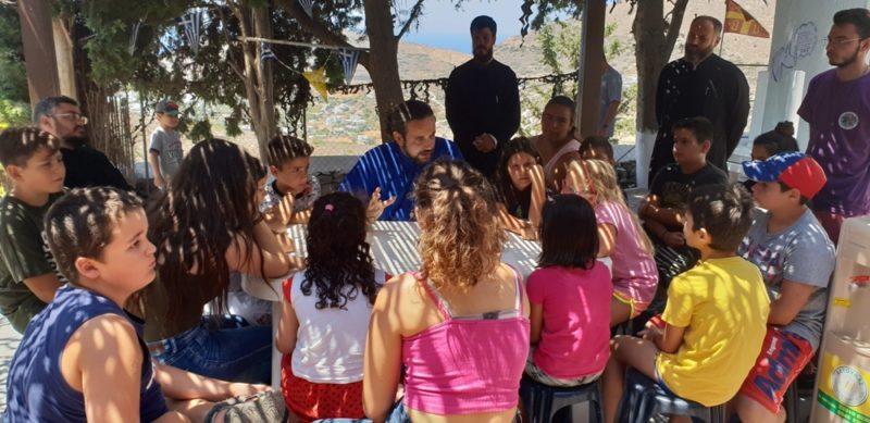 """Ολοκληρώθηκε σήμερα με επιτυχία και η δεύτερη περίοδος του Ολοήμερου Θερινού Κέντρου Δημιουργικής Απασχόλησης της Ιεράς Μητροπόλεως στις εγκαταστάσεις του """"Χωριού της Αθηνάς"""", στον περιβάλλοντα χώρο της Ιεράς Μονής Αγίας Βαρβάρας, στο Κίνι, κατά τη διάρκεια της οποίας τα 28 φιλοξενηθέντα παιδιά ασχολήθηκαν με ποικίλες ψυχαγωγικές και δημιουργικές δραστηριότητες."""