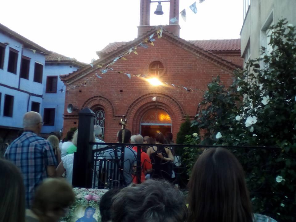 Αγία Παρασκευή: Πανηγυρικός Εσπερινός στην Έδεσσα