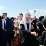 Θυρανοίξια Ναού Οσιομάρτυρος Ελισάβετ από τον Πατριάρχη Κύριλλο στην Μονή Αγίας Ελισάβετ Αλαπάγιεφσκ