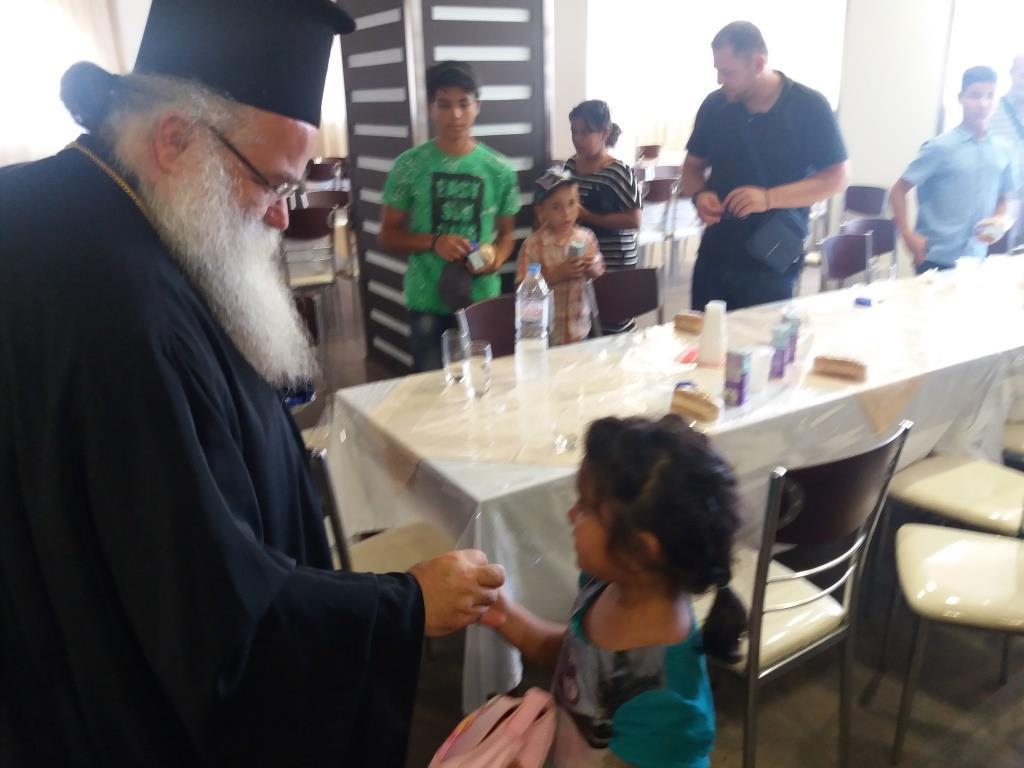Επίσκεψη παιδιών από την «Κιβωτό του Κόσμου» στον Σεβ. Μητροπολίτη Ιεραπύτνης Κύριλλο