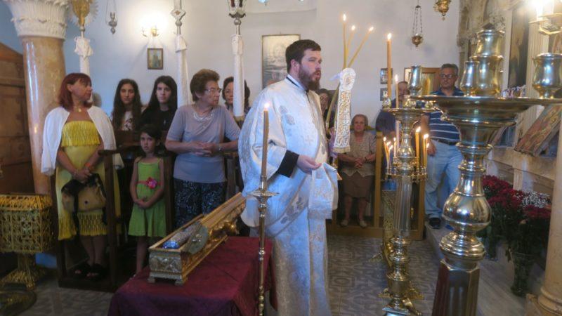 Αγία Μαρίνα - Άνδρος: Σύρου Δωρόθεος και πλήθος πιστών στον πανηγυρικό εσπερινό