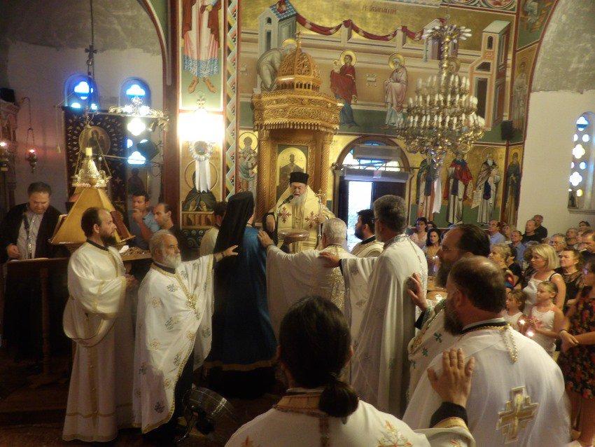 Η εορτή της Αγίας Αννας στη Μητρόπολη Κορίνθου