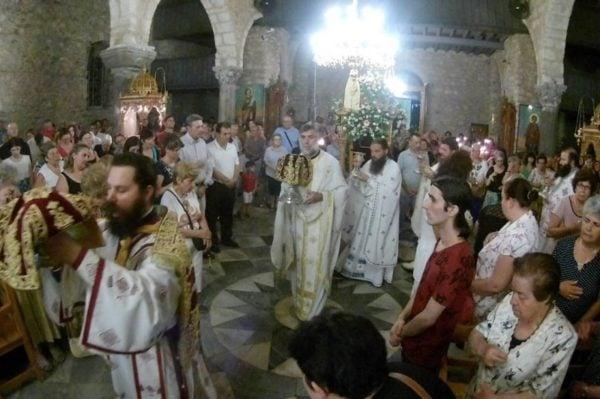 Αγία Παρασκευή: Προεόρτιος Αγρυπνία στη Μητρόπολη Χαλκίδος
