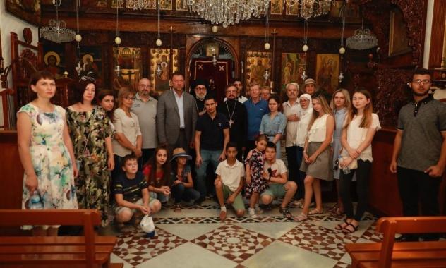 Οικογένειες πεσόντων στη Συρία Ρώσων στρατιωτών σε Μονές της Εκκλησίας της Αντιοχείας