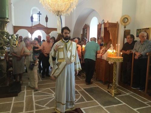 Την Κυριακή 8-7-2018 χοροστάτησε στον Όρθρο, ευλόγησε τους προσφερθέντες Άρτους και προεξήρχε της Θείας Λειτουργίας στον Πανηγυρίζοντα Ιερό Ναό Αγίου Προκοπίου Βουρβουριάς Νάξου. Τον Θείο Λόγο κήρυξε ο π. Δωρόθεος Βενετσανόπουλος. Εν συνεχεία προεξήρχε της Λιτανεύσεως των Ιερών Εικόνων.