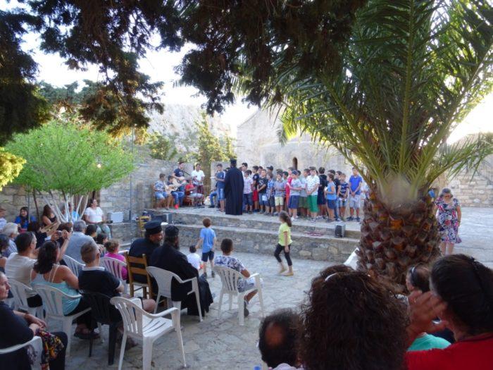 Tελετή λήξης Κατηχητικών Σχολείων στην Μονή Παναγίας Βρυωμένου Μεσελέρων Ιεράπετρας