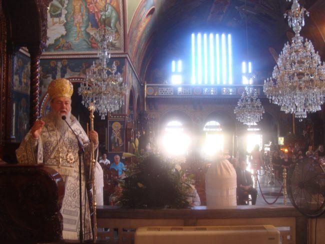 Ο Κορίνθου Διονύσιος στον Ιερό Ναό Αποστόλου Παύλου