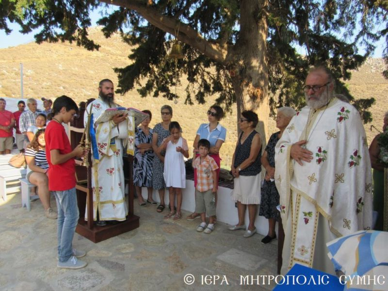 Σύμη: Λαμπρά Θυρανοίξια Ναού του Αγίου Παϊσίου του Αγιορείτου