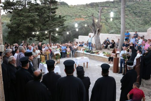 Ευλογία των καρπών της γης στην Ροτόντα της Κρήτης