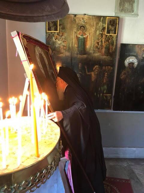 Ο Οικουμενικός Πατριάρχης στο Ιερό Αγίασμα της Παναγίας των Βλαχερνών